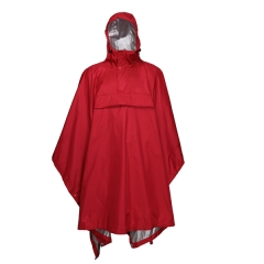 Men long rain coat with tape seam and breathable